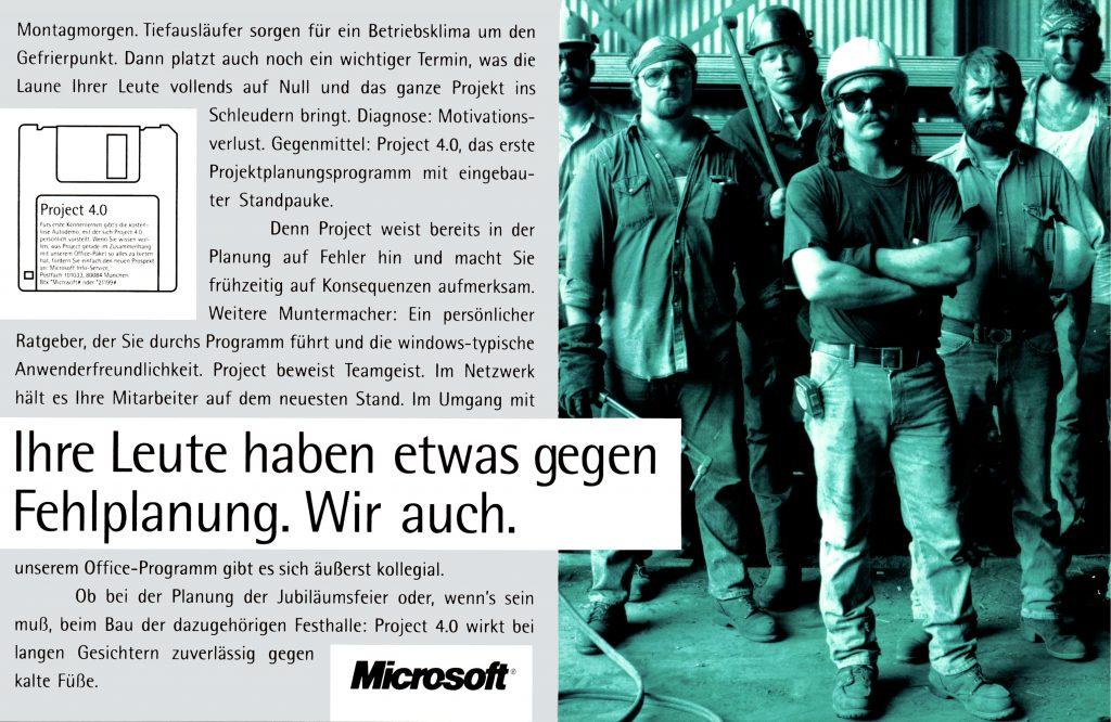 Anzeige für Microsoft