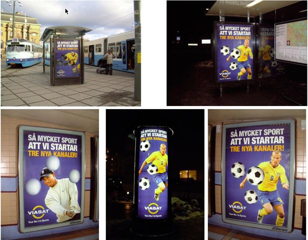 Plakate und Citylights für Viasat
